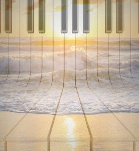 Klavierstück aus Akkorden, Dreiklänge, Wellenmusik, kostenlose Klaviernoten, Harmonisch Denken, Improvisieren Klavier