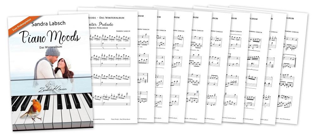 Winteralbum, Winterstücke, Zauberklavier, Sandra Labsch, Notenheft, Winternoten, Winterheft, Weihnachtsheft, Klaviernoten