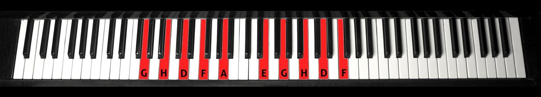 Linientöne Klavierfoto
