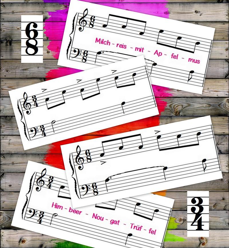Rhythmus Den Unterschied Zwischen 34 Und 68 Takten